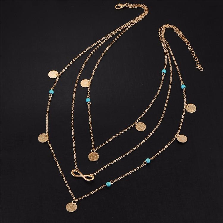 Bohemian Infinity Shape Necklace
