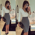2017 summer women dress vestidos v neck white long sleeve bodycon party sexy club office shirt evening midi t shirt dresses