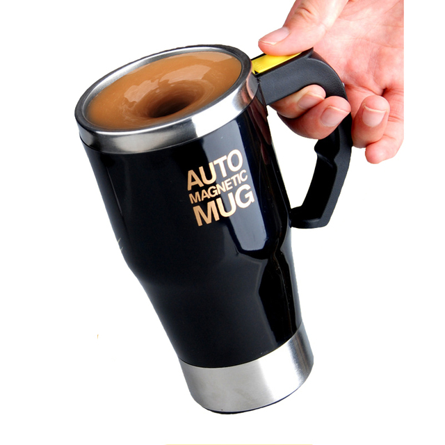 Self Stirring Mug Stainless Steel Double Wall