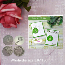 136*136mm circle tag note Metal Cutting Dies Creating Hollow Scrapbook Frame stamp Stencil Embossing new 2019