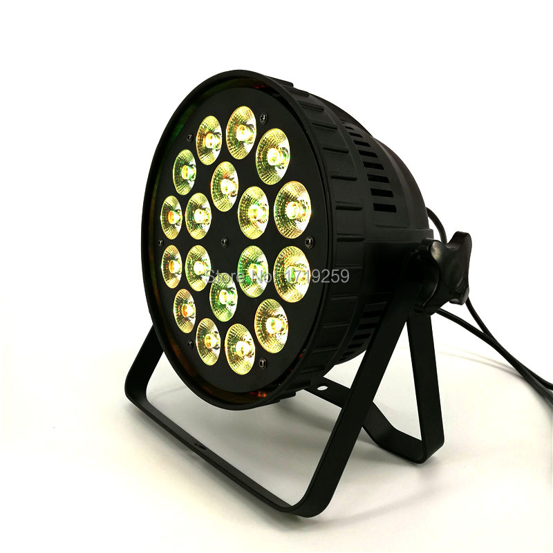 8pcs/lot Aluminum alloy LED par 18x15W RGBWA 5in1 LED Par Can Par LED Spotlight DJ projector Wash Lighting Fast Shipping 4pcs lot led par 18x15w rgbwa 5in1 quad led par can par64 led spotlight dj projector wash lighting stage light