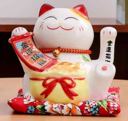 Lucky Cat ornaments electric hand Japanese ceramic cat small fortune cat cashier creative gift shop opened