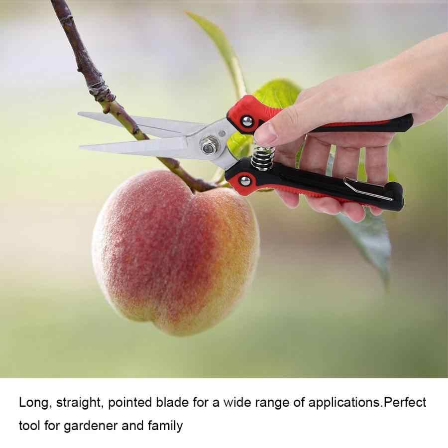 Ciseaux multifonctions de cueillette de fruits d'acier inoxydable cisailles de branche de fleur outil de coupeur de jardin