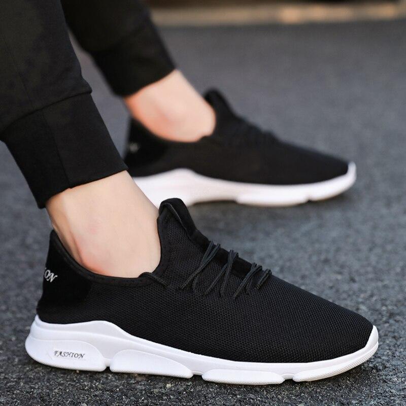 Confortable blanc Respirant Sneakers Mesh Hommes Noir vert Pour Mode Chaussures De Sport Noir 7wIxa7qXp