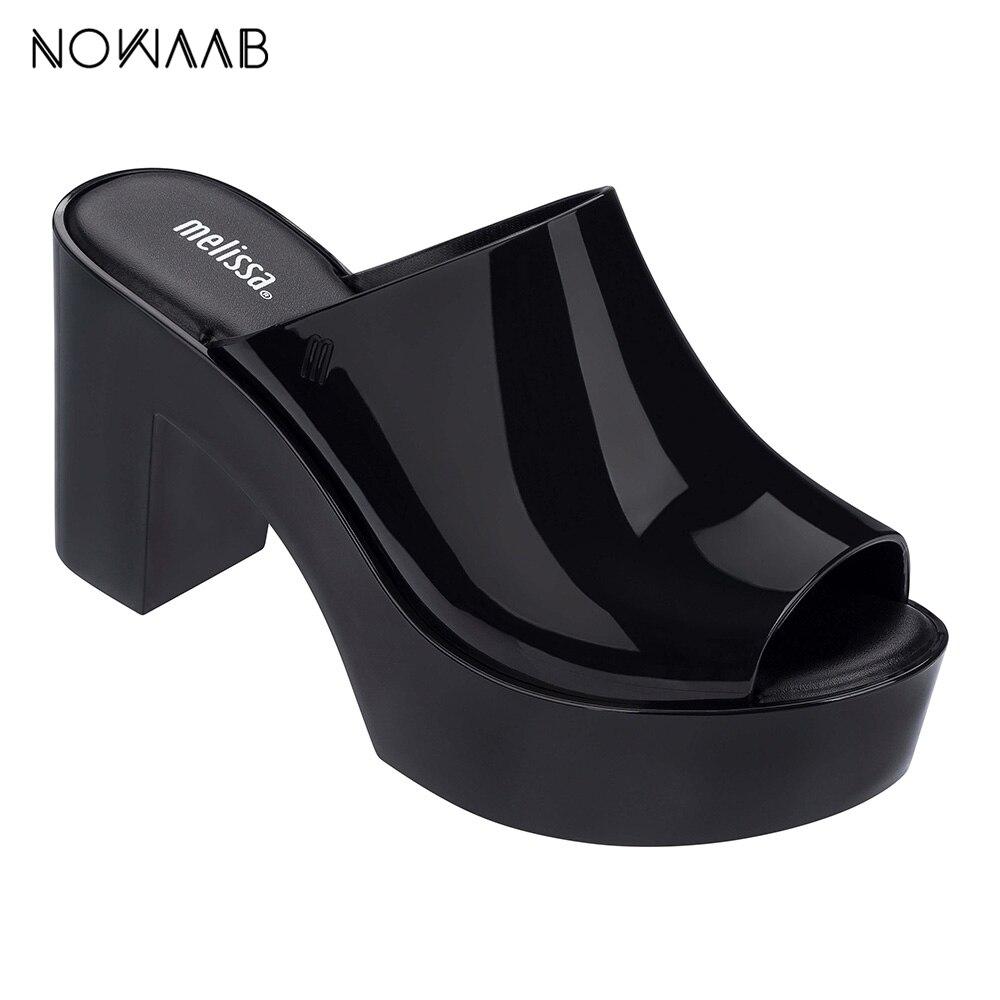 Mule 2019 Novas Mulheres Sandálias Flat Marca Melissa Geléia Sandálias Femininas Sapatos de Geléia Melissa Sapatos Para As Mulheres Sólida Mulher