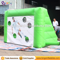 Factory direct sale 3X2X2M Inflatable soccer goal football shooting gate for amusement kick soccer games for kids outdoor toys