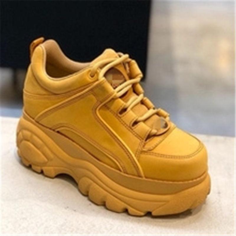 Scarpe di lusso delle donne designer scarpe da ginnastica 7 centimetri 2018 Nuovo Lente herfst chunky Sneakers dames modalità Vrije Tijd Lace-up vrouwen schoenen