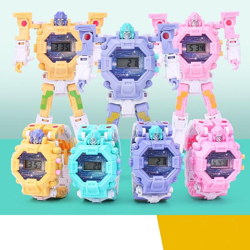 Children Sports Watches Boy Deformation Robot Electronic Wristwatch Kids Girl King Kong Model Digital Watch Student Gift Clock