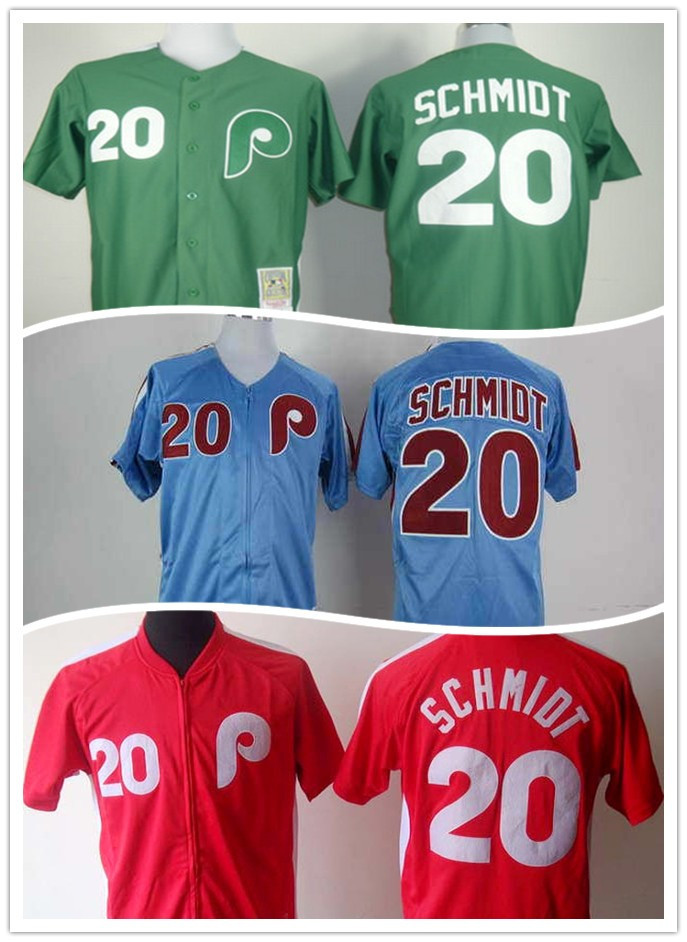 separation shoes 83e5a 8f40b The real thing Free shipping Mike Schmidt #20 Philadelphia ...