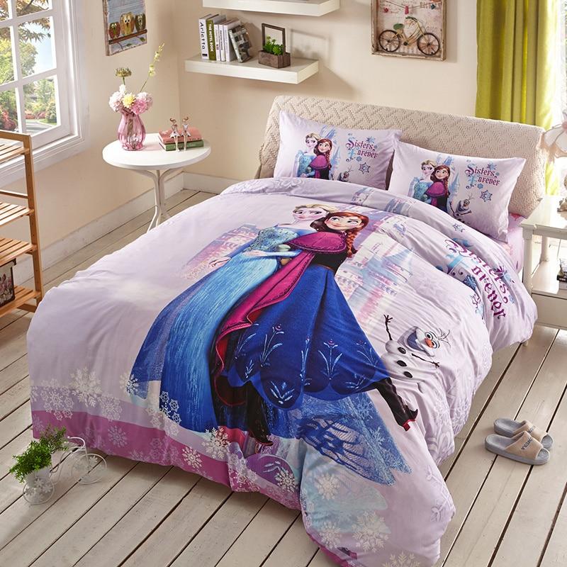 DISNEY Frozen Elsa Anna Character 3D Pink Bedding Set 100% ...