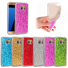 hot deal buy for samsung s7 edge glitter case colored shining silicone tpu soft shiny glitter back cover case for samsung galaxy s7 edge g935
