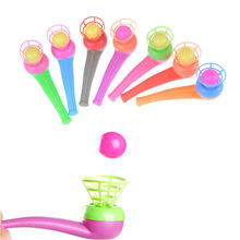 Outdoor Fun Sports Entertainment Toys For Children Blowing Plastic Pipe Balls Balance Training Learning Educational Toy(China)