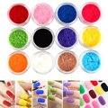 12 Цветов Флокирование Бархата Порошок Установить Акриловый Кристалл Гель Для Ногтей Советы ногтей 3D Art Design Flock Kit Pro Маникюр Педикюр декор