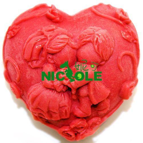 nuevo corazn amor boda moldes para velas molde de silicona jabn moldes para pasteles