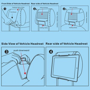 Image 4 - Reyann Kindle Fire Car Headrest Mount Holder for Kindle Fire Tablets (Fire 7, HD 8, HD 10 with / without case) Free Shipping!
