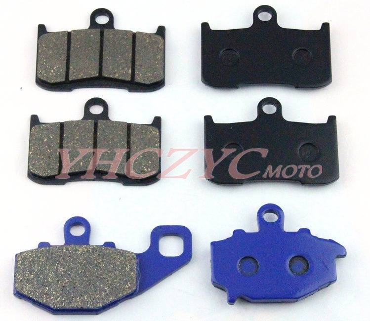 ФОТО For KAWASAKI Z1000 03-06 ZX9R 02-04 motorcycle front and rear brake pads set