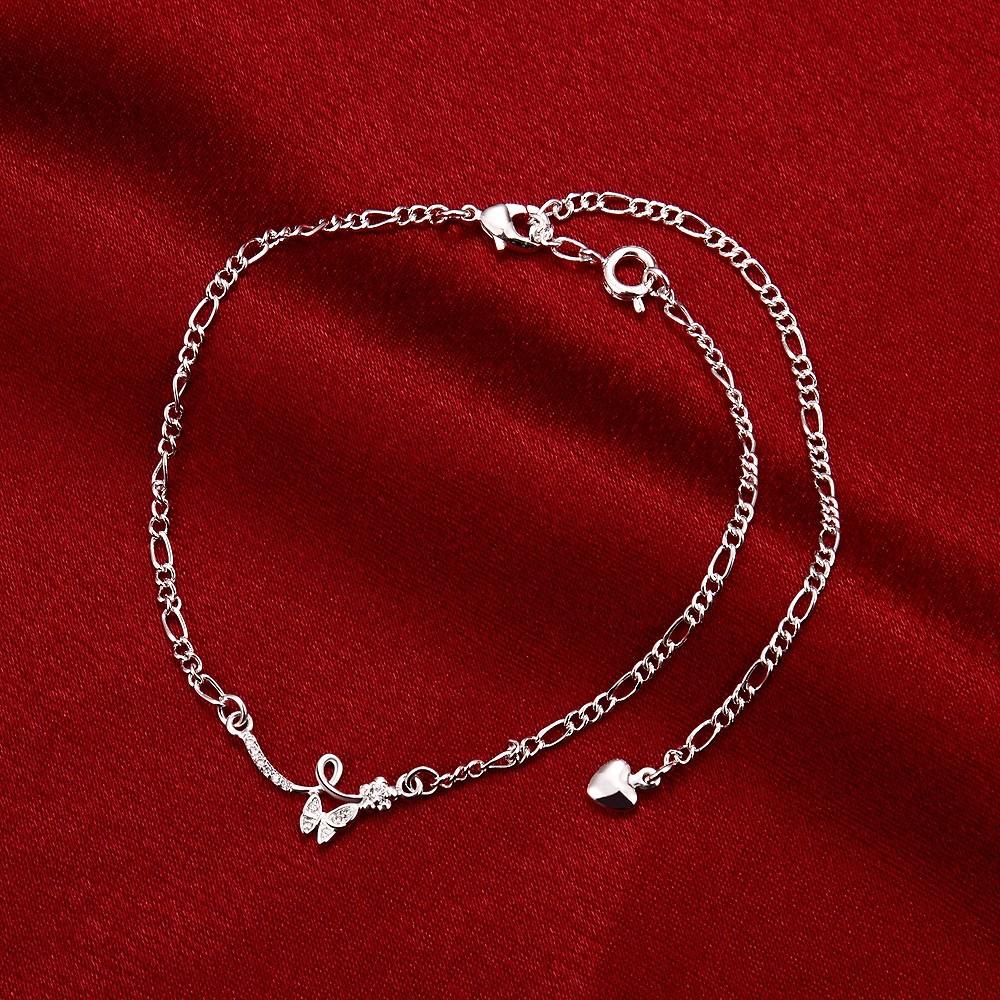 in the dark designer ankle anklet pin steel glow stainless butterflies bracelets bracelet
