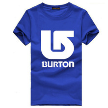 Burton Man T-Shirts Male Summer Cool Clothes Fashion Guy Fashion Clothing Casual Dress Beach Short Sleeve Tops & Tees RAW0520