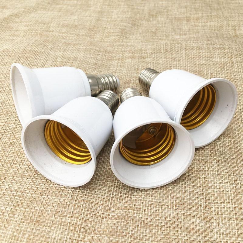 1PCS E14 to E27 LED Lamp Holder Converter LED Bulb Adaptor Light Base Adapter Socket Conversion Light Bulb Base Screw Adapter