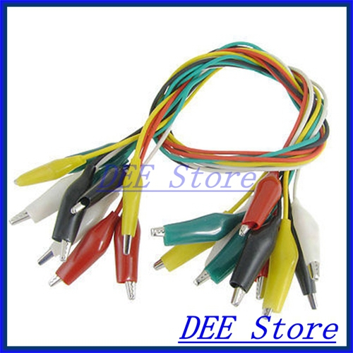 ộ_ộ ༽10x 1.5Ft Multimeter Electrical Multicolor Alligator Clips ...