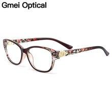 Gmei оптический стильный красочный Urltra-светильник TR90 для женщин полный обод оптические оправы для очков женские пластиковые очки для близорукости M1451