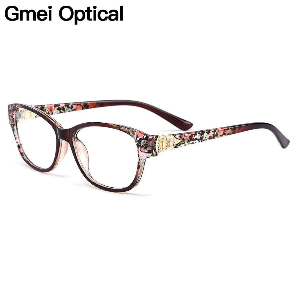 Gmei Optical Stylish Colorful Urltra-Light TR90 Women Full Rim Optical Eyeglasses Frames Female Plastic Myopia Eyewear M1451
