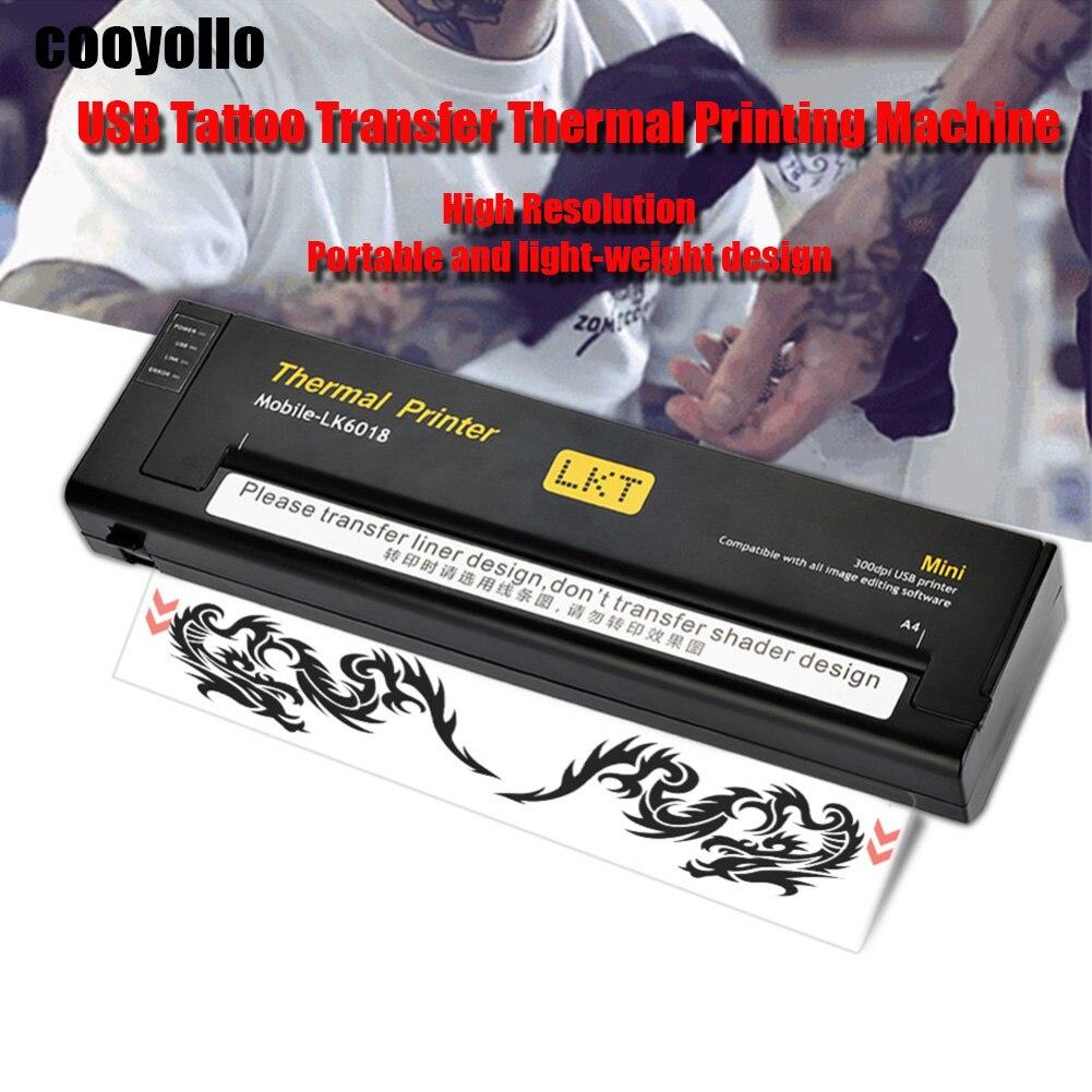 Новый черный/белый мини USB тату трафарет для рисования станочная линия Термальность печати копир для A4 передачи Бумага тела товары для руко
