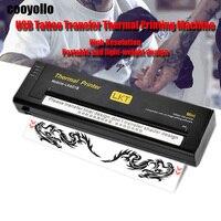 New Black/White Mini USB Tattoo Drawing Stencil Transfer Machine Thermal Printing Copier For A4 Transfer Paper Body Art Supplies