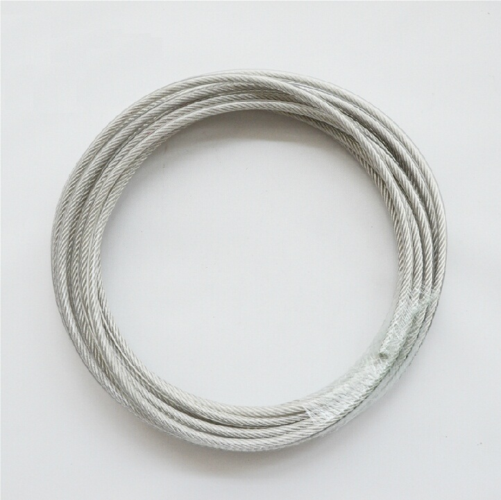 7X19 Structure 1MM Diameter  Strand Core Wholesales High Tensile 304 Stainless Steel Wire Rope