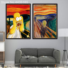 Screech Homer Simpson Scream Art Print Painting Poster Wall Pictures For Living Room Decoration Home Decor No Frame Decorative(China)
