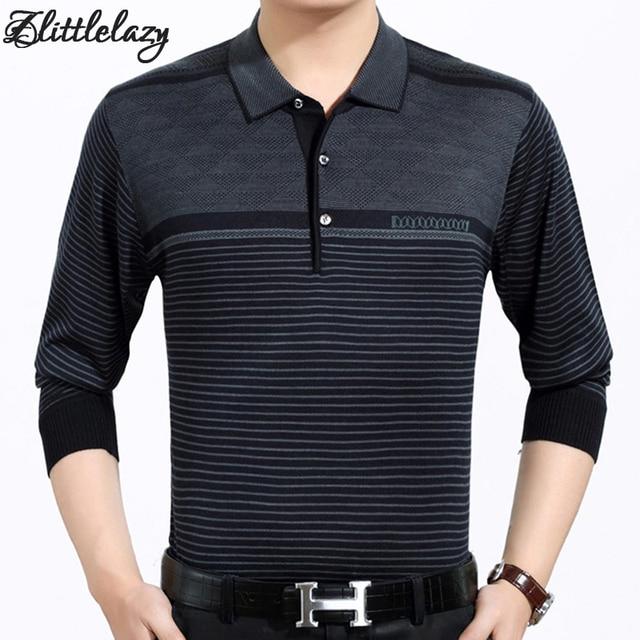 2017 casual long sleeve business mens shirts male striped fashion brand polo shirt designer men tenis polos camisa social 3881