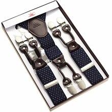 sun brand jacquard weave suspender 6 clips