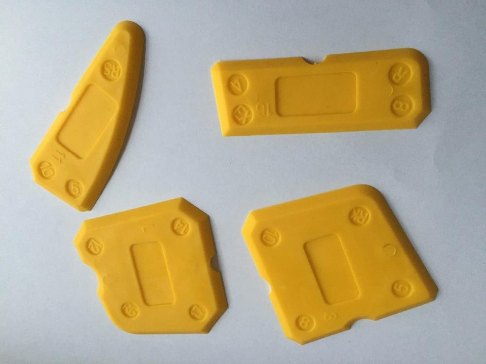 Free Shipping Sealant Scraper Silicone Trowel Caulking Tool Sealant Wiper Sealant Soother(4pcs Per Set,total 40pcs Per Order)