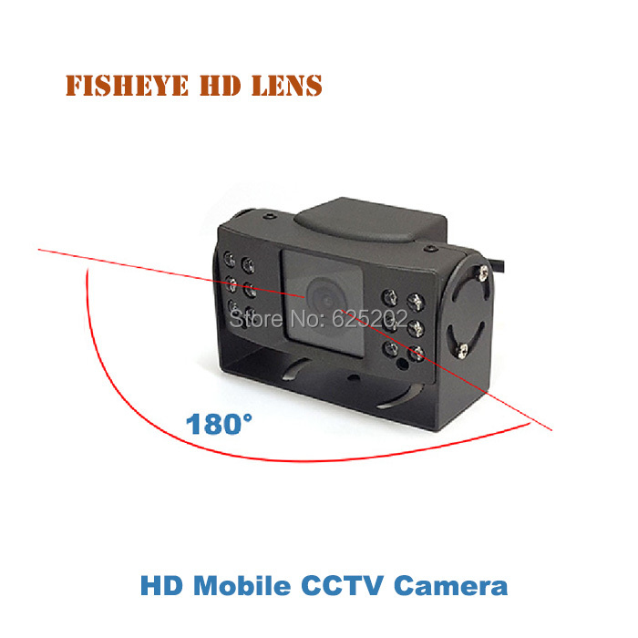 Fisheye Mini Mobile Vehicle AHD 720P 1.0MP Security CCTV Camera for Car Surveillance