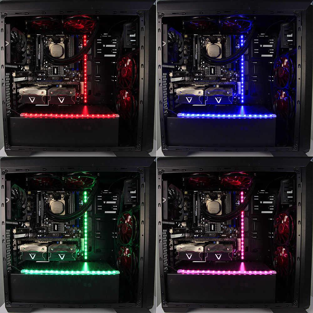 Alseye CLS-100 RGB вентилятор и светодио дный полосы контроллер чехол для ноутбука Подсветка (1 пара) Силиконовые IP68 Магнитная 30 см полоски