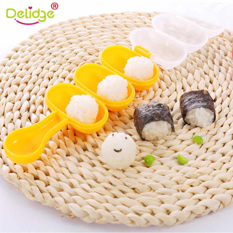 Delidge 1PC DIY Sushi Maker Mini Rice and Vegetable Roll Mold Meat Ball Bento Making Tools  Food Grade Kitchen Accessory