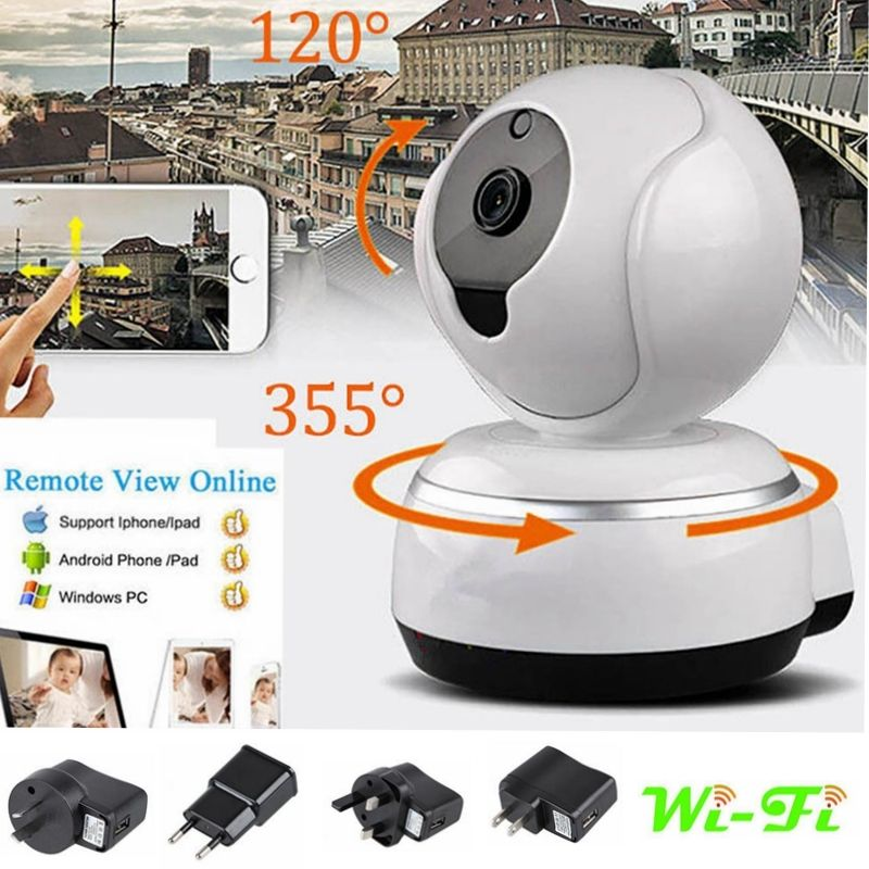 Wireless Pan Tilt 720P HD CAM Security Network CCTV IP Camera Night Vision WIFI p2p 720p hd wireless wifi ip camera 720p pan tilt ir night vision network cctv ip cam support 64 gb tf card