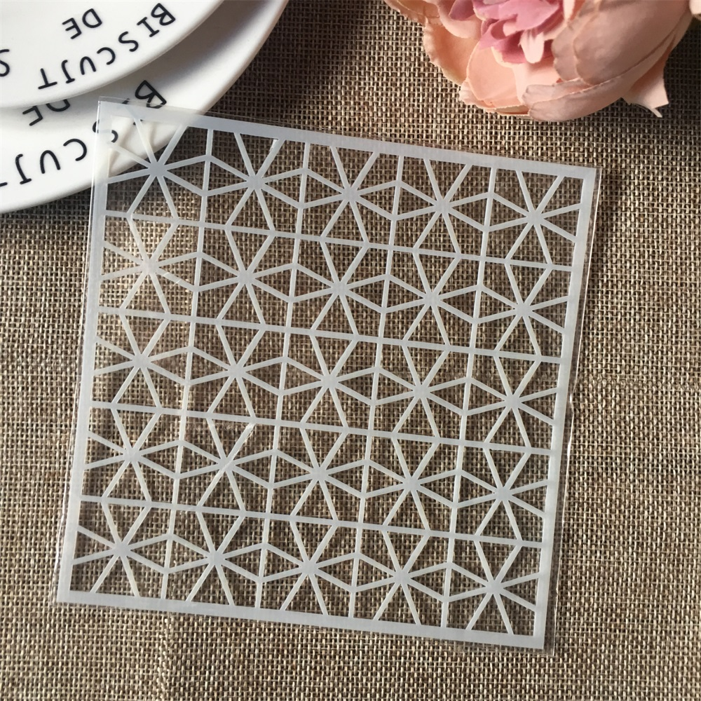 Hot 13cm Geometry Clover DIY Craft Layering Stencils Wall Painting Scrapbooking Stamping Embossing Album Card Template