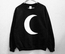 Sugarbaby Crescent Moon Unisex Sweatshirt Long Sleeve Fashion Moon Jumper Crew Neck Tumblr Sweatshirt High quality Casual Tops