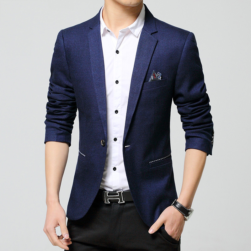 NKNB Blazer Masculino Slim Fit Men Casual Jacket Suit Dress
