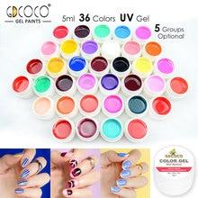 #86153 Painting Gel Soak off UV LED 5ml Pure Color Paint Set CANNI Original Nail Art Design Professional Usage