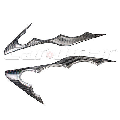 Carbon Fiber Headlight Cover Eyelid Eyebrow For Ford Focus 09-11 SHA Style