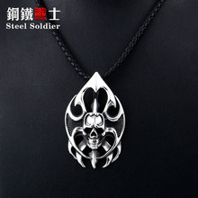 Necklace Pendant Jewelry Steel Soldier Gifts Stainless-Steel Fashions Flame Men for Women