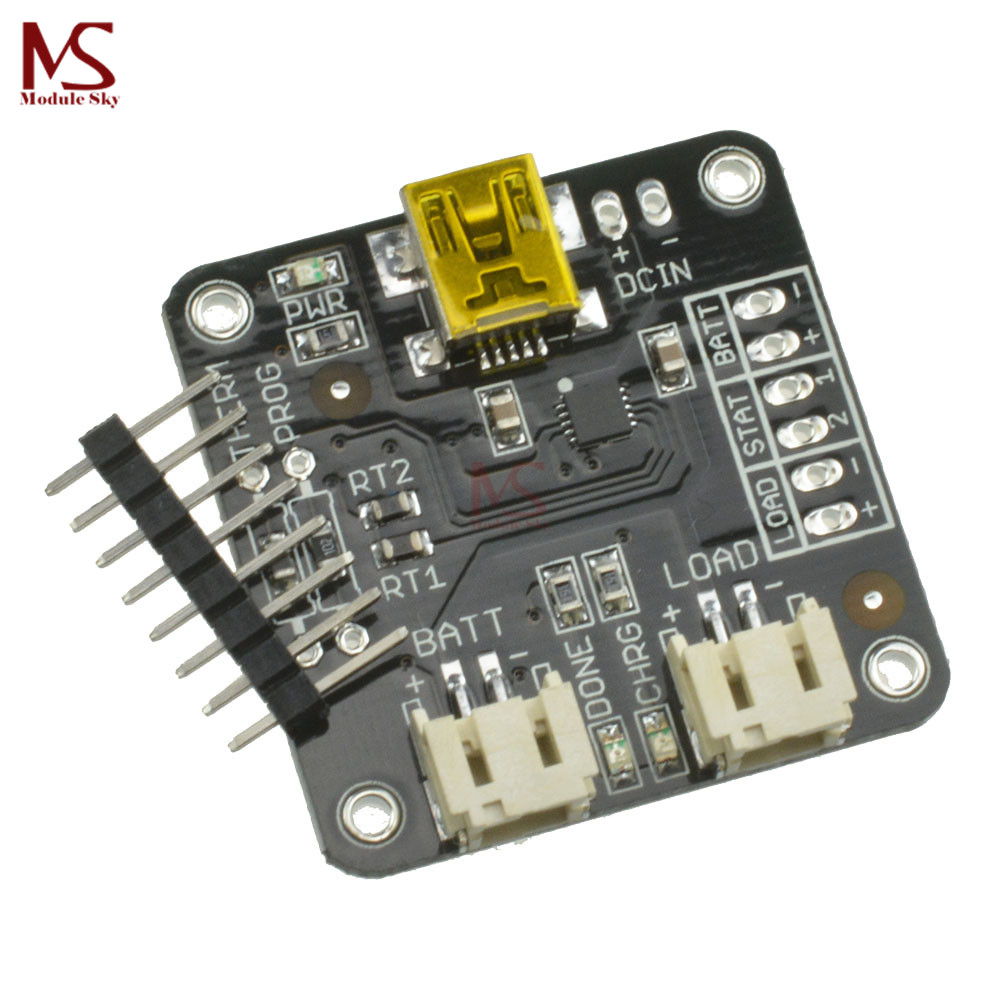 Mcp73833 Usb Lithium Ion Battery Charger 5v Linear Charging Lilon Relay 5 Pin Biru Lipo Controller Board Module 37 42v Automatico Protection In Replacement Parts