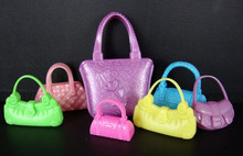 7pcs set Fashion Shoulder Bag Casual Hangbag For Barbie Doll Mixed Styles Doll Handbags Girl Birthday