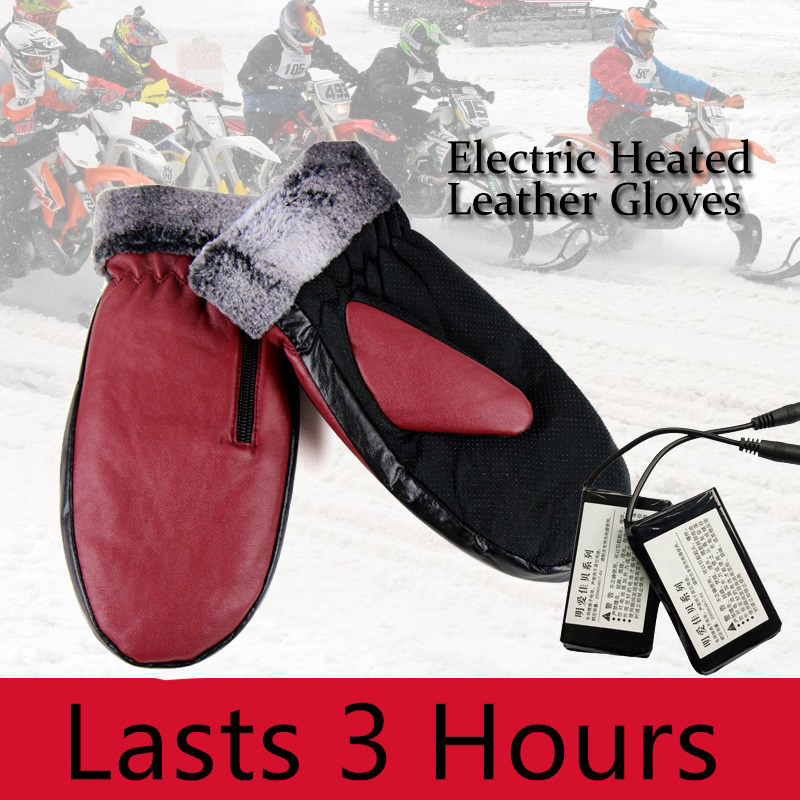 Motorcycle Ski Electric Heated Gloves Lithium Battery Finger Hand Back Self Heating Waterproof Outdoor Sport Riding Ski Gloves
