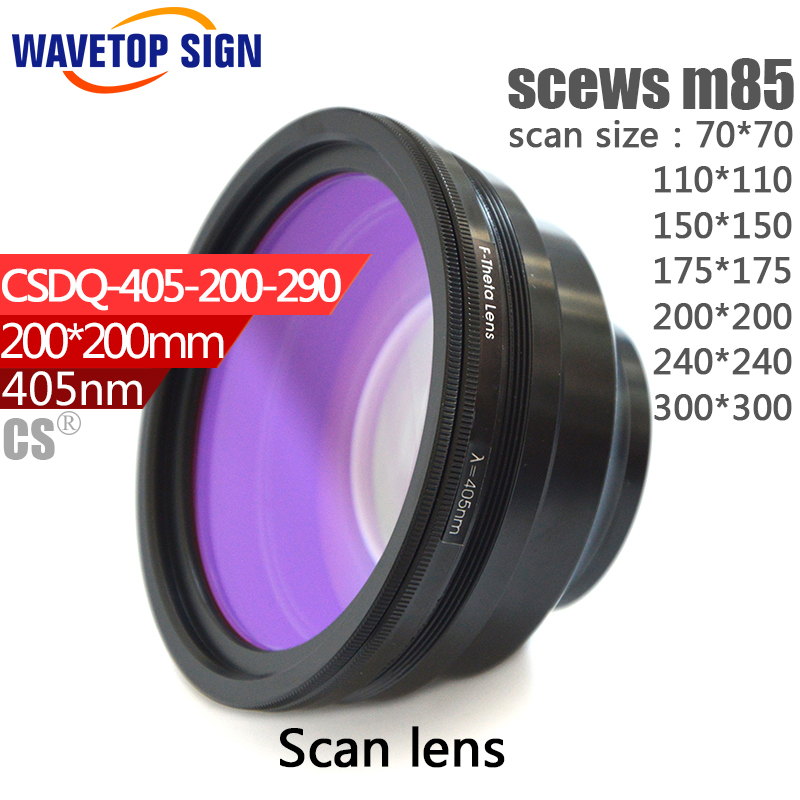 405nm scan lens scan field size 70*70 110*110 150*150 175*175 200*200 240*240 300*300mm scews M85 use for 3d printer machine автошину 175 70 13