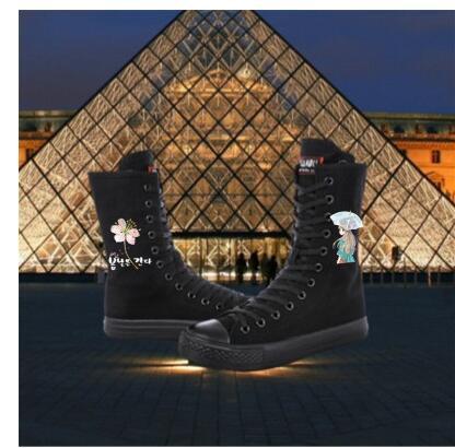 Vulcanizar 5cm Otoño Zapatos De Heel 2018 Deporte Zapatillas 4cm 4cm Casuales Mujer Superior Tubo Alta Plus 43 Sneakres Tamaño heel Lona Botas heel 2 Femeninos vwBxdxq5