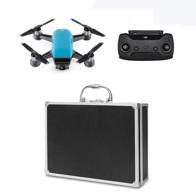 Sunnylife DJI Spark Waterproof Safe Aluminum Password Box Portable Suitcase Storage Case Carring Bag for DJI Spark Accessories safety transport travel hardshell drone case for dji goggles vr glasses mavic pro bag for dji spark box storage accessories
