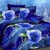 Hot Now Flowers 3d Bedding Set Bed Linen Bedding Set Family Set 4pcs Contains Quilt Bed